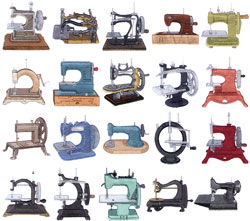 Dakota Collectibles Embroidery Designs Antique Toy Sewing Machines
