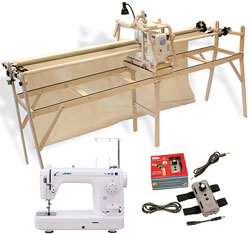 Grace Sturdy-Lite Quilting Frame, Juki TL98QE Long-Arm Sewing ... : long arm quilting frames - Adamdwight.com