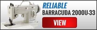 Reliable BARRACUDA 200ZW Portable Walking Foot & Zig-Zag Sewing Machine