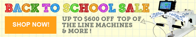 2016 Back to School Sale