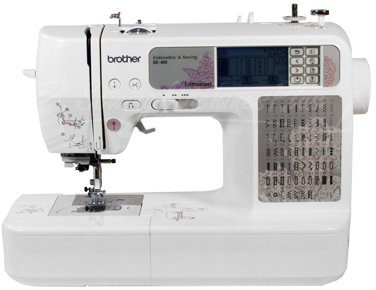 Brother Se 400 Sewing Amp Embroidery Machine With Computer