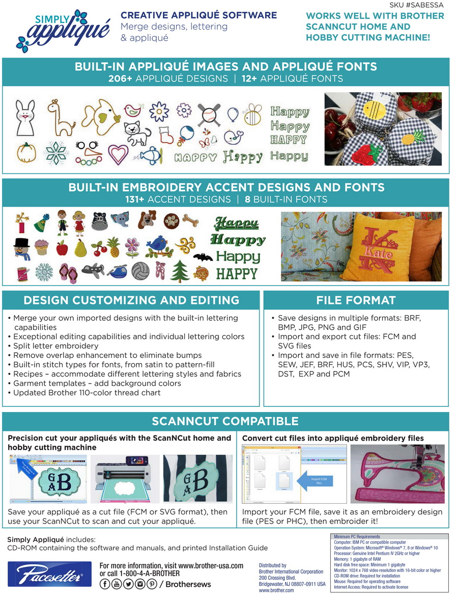 Generations Software for Creating Machine Embroidery Applique