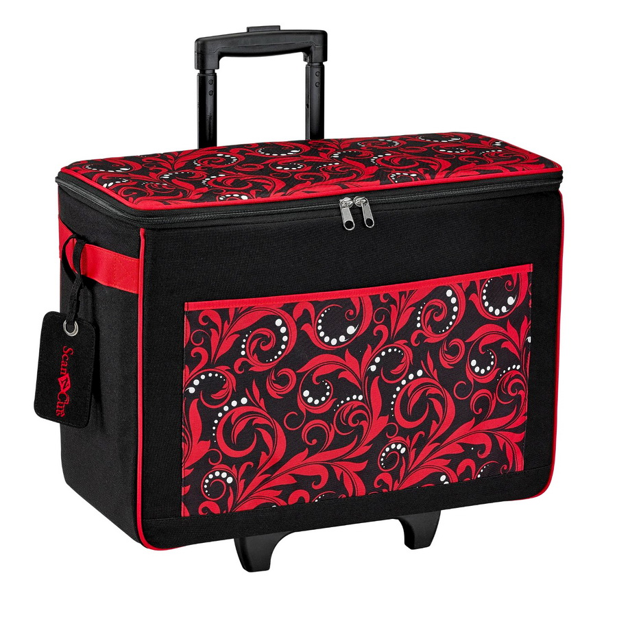 Scan n cut rolling tote bag red for Arts and crafts tote bags
