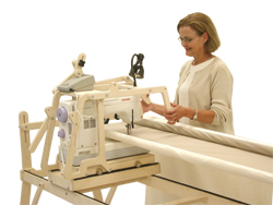 it requires no table for use making it a complete quilting system it is an ultra affordable frame for the beginning machine quilter and includes several