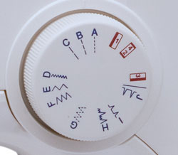 Janome 128 Stitch Selection Dial