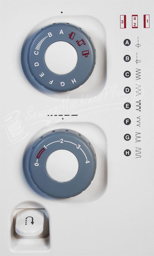 Stitch Control Dials.