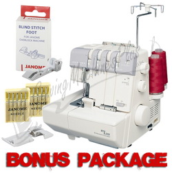 Janome MyLock 634D Serger with Self Threading Lower Looper & FREE BONUS