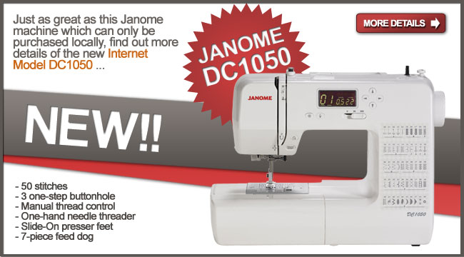 The Janome DC 1050 can be shipped to you.