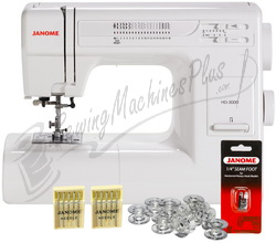 Janome HD3000 Heavy Duty Mechanical Sewing Machine w/ FREE BONUS