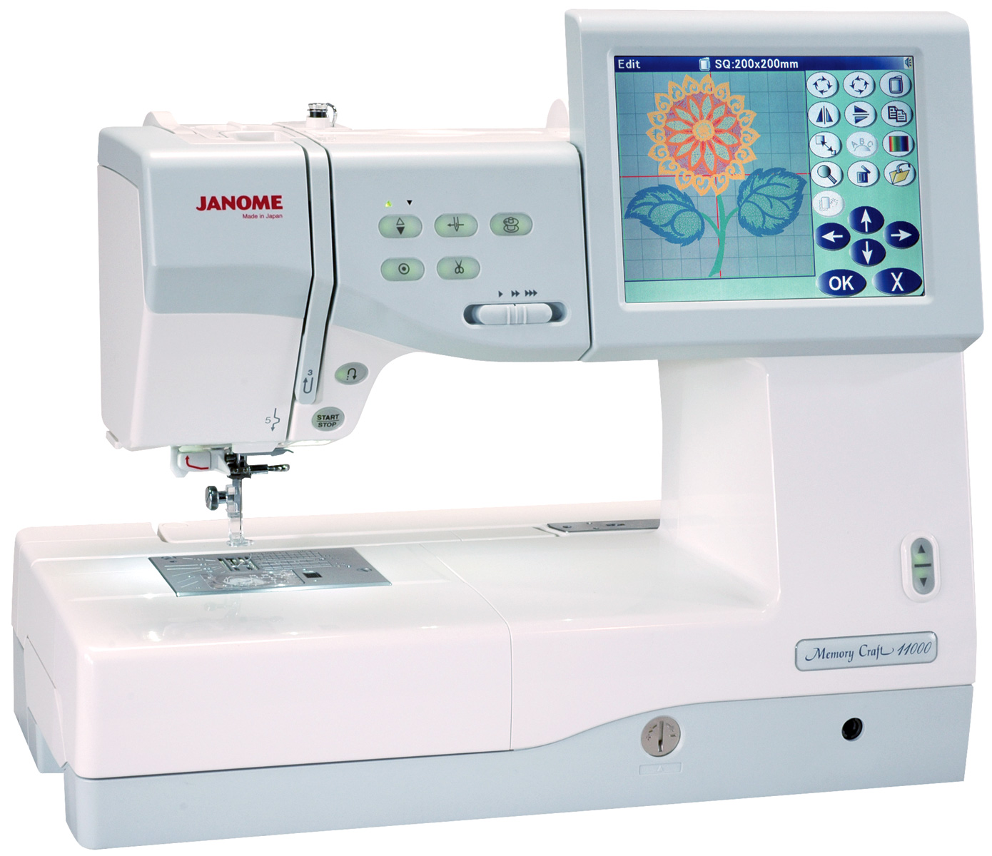janome memory craft 11000 embroidery and sewing machine
