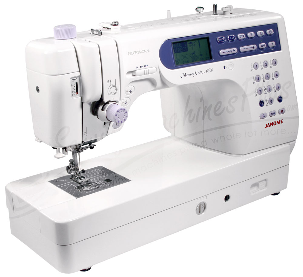 janome memory craft 6500p quilters combo w extension