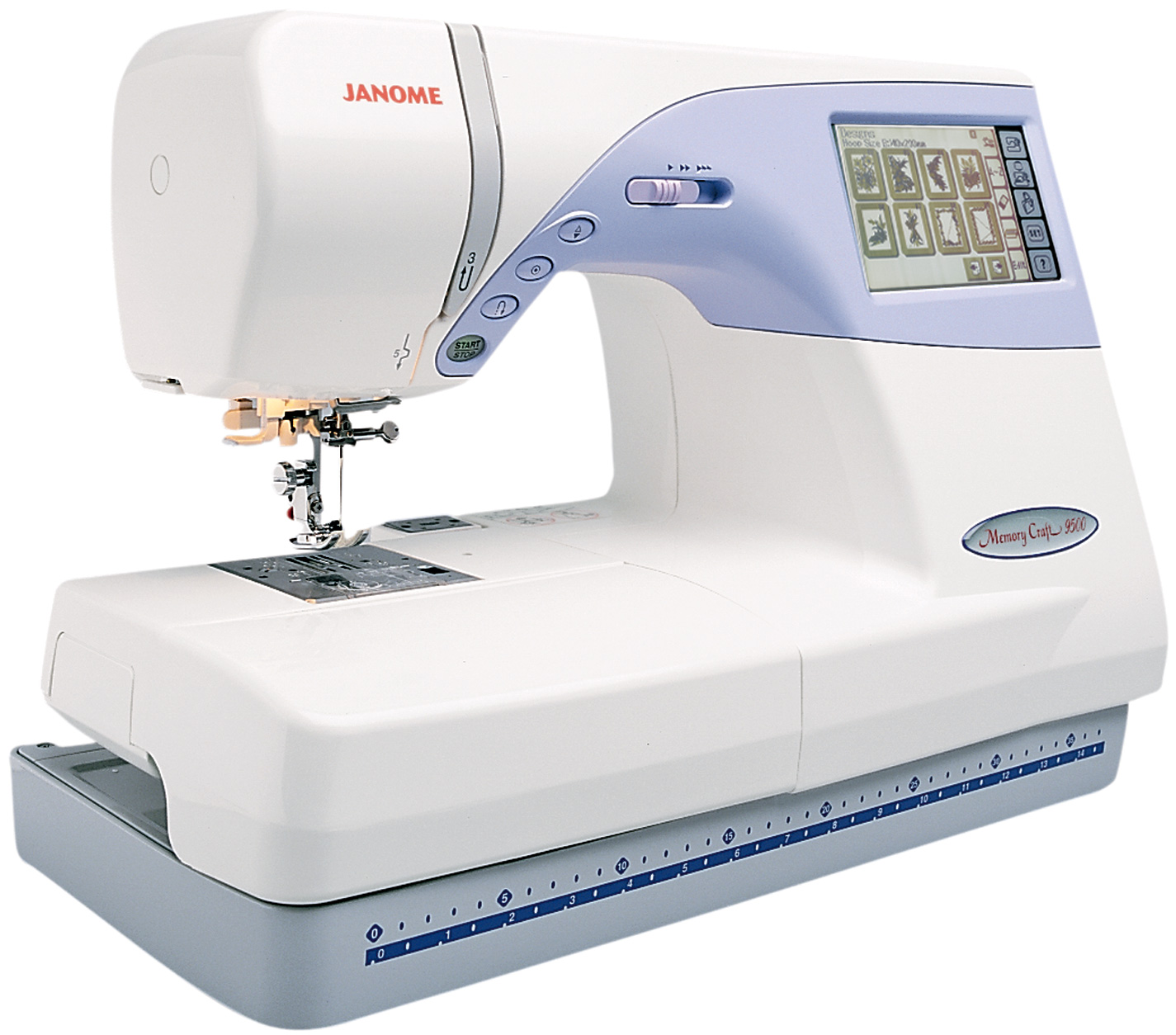 Janome memory craft computerized embroidery sewing