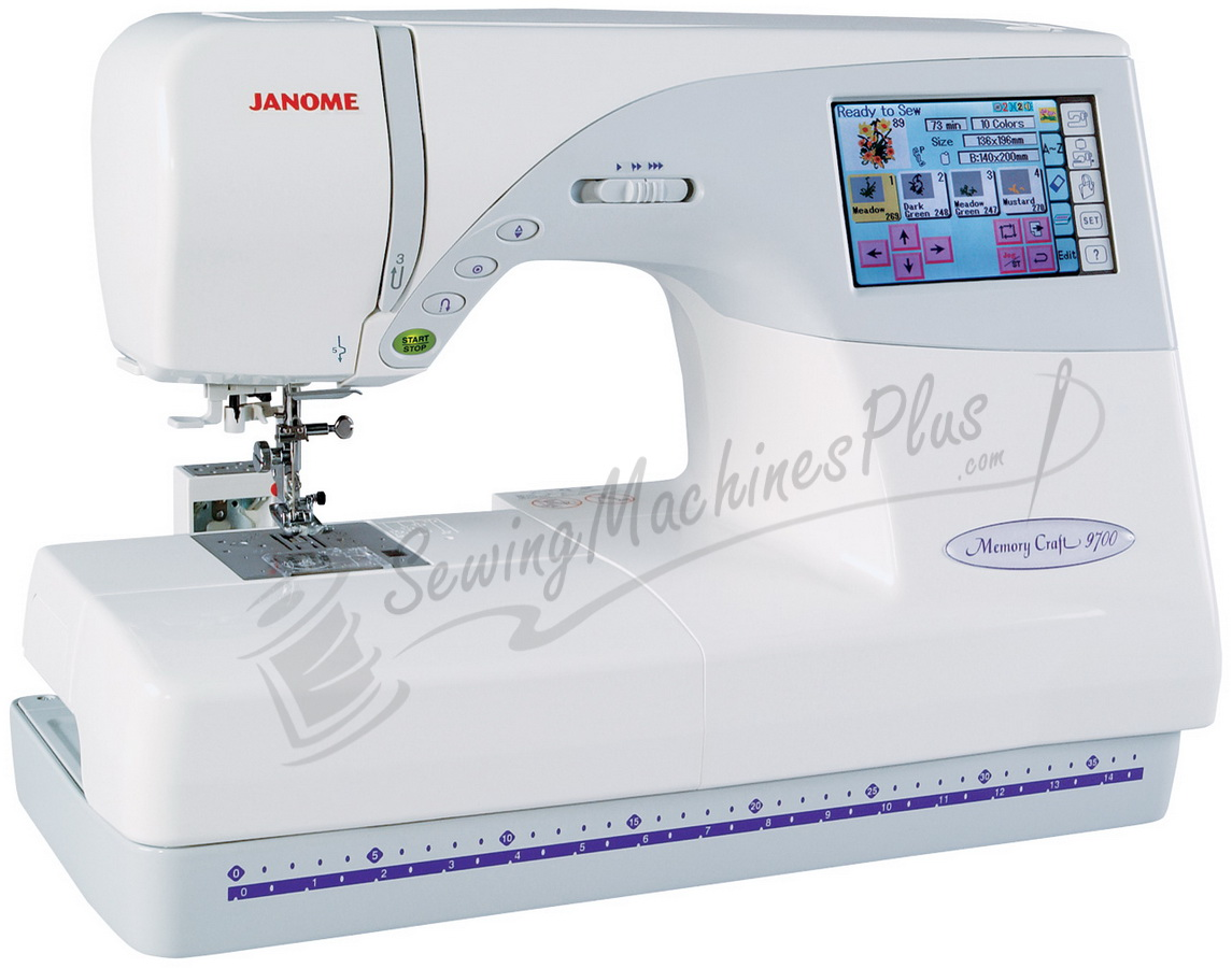 janome memory craft 9700 sewing embroidery machine with