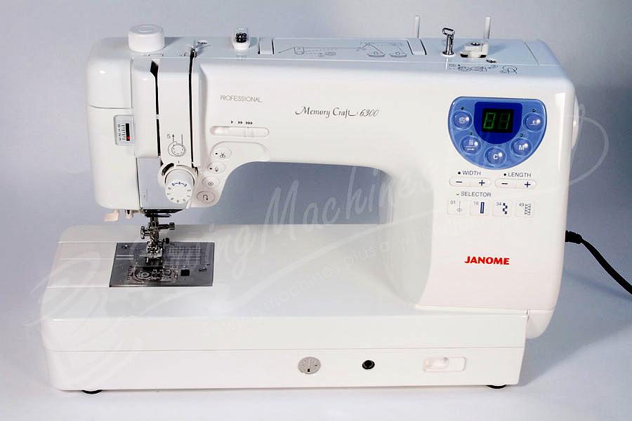 janome memory craft 6300p sewing machine