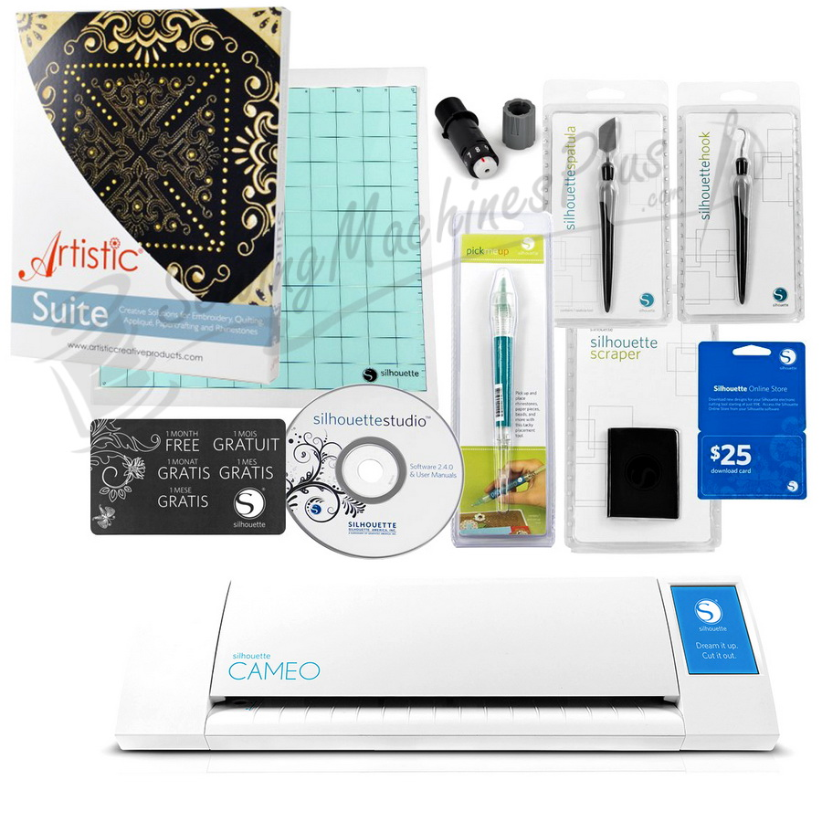 Janome Artistic CAMEO by Silhouette - Artistic Pack with Artistic Suite V7.0 Software