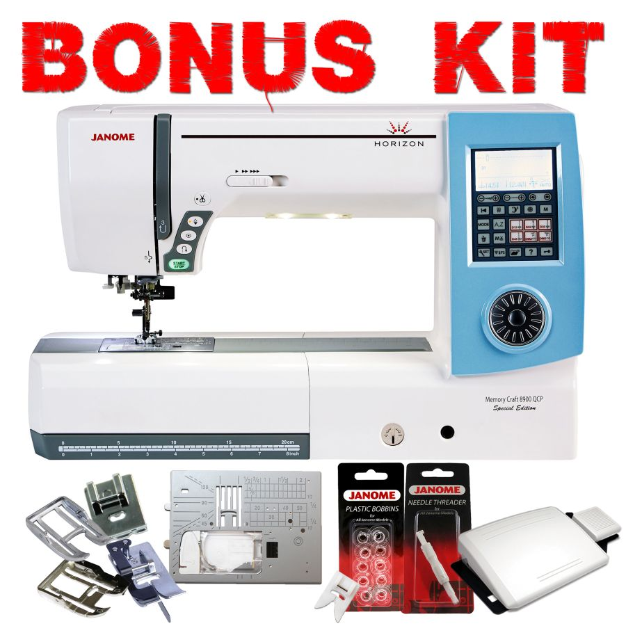Janome Horizon Memory Craft 8900QCP Special Edition Sewing Machine with FREE Bonus Kit