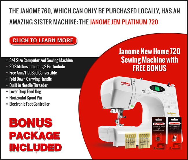 Check out the Janome New Home 720 Sewing Machine!