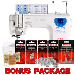 Janome Memory Craft 6300P Sewing & Quilting Machine w/ FREE BONUS