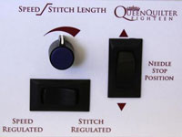 Queen Quilter Eighteen Controls.