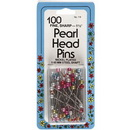 Pearl Bead Head Pins 1 1/2