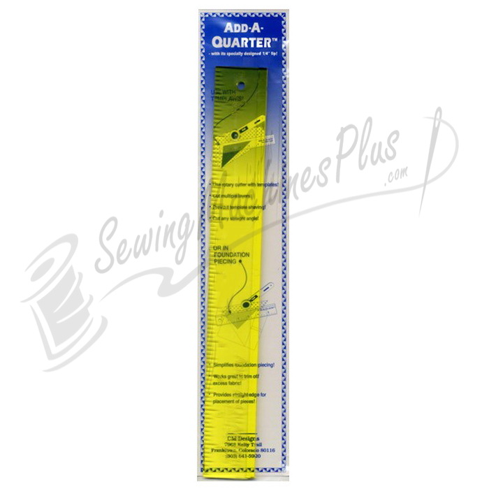 Add A-Quarter Ruler 1 1/2in x 12in