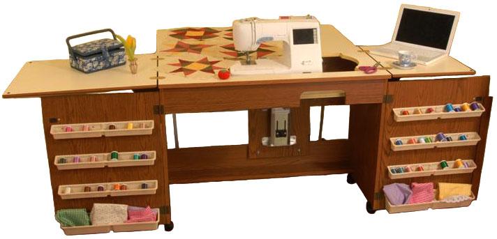 Arrow 98700 Bertha Sewing Cabinet Oak Finish EBay