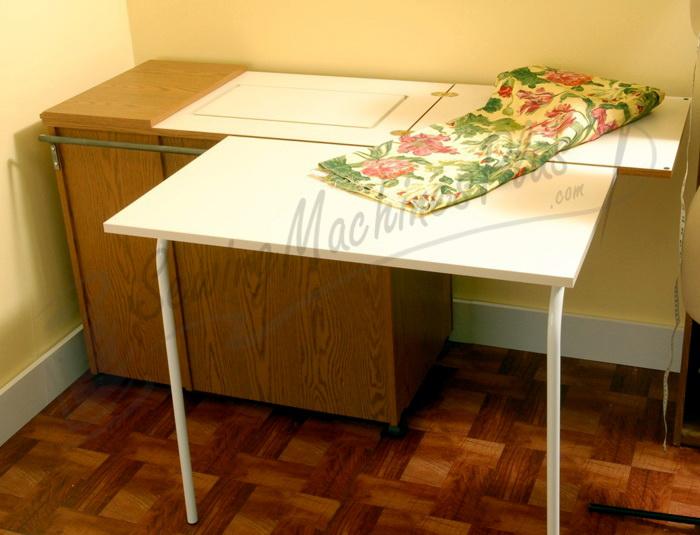 Arrow 98700 Bertha Sewing Cabinet For Large Machines Oak Finish