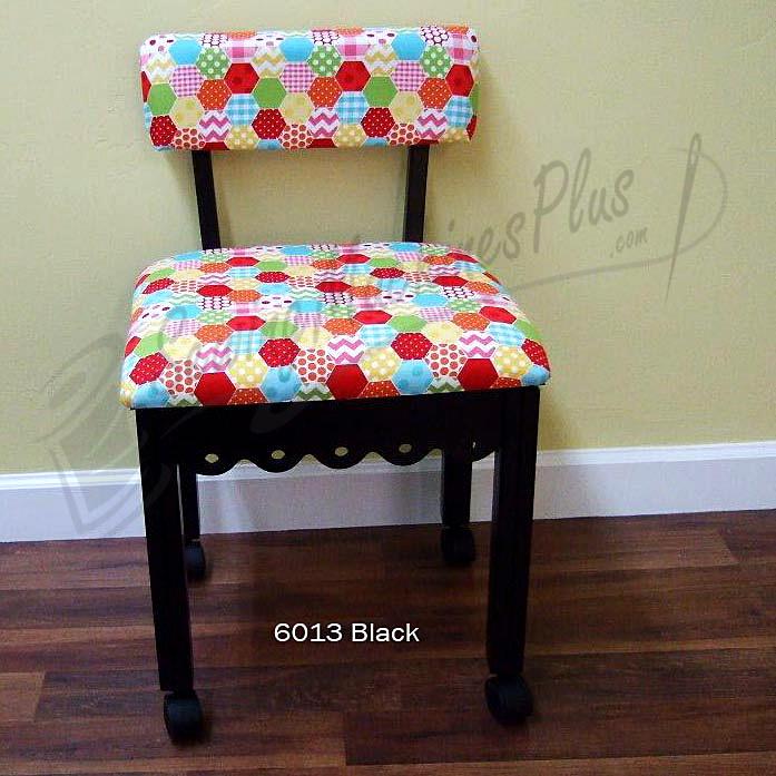 Arrow 6013 Riley Blake Hexi Motif Fabric Sewing Chair Black