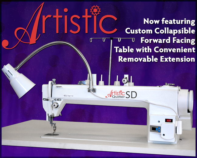 Janome Artistic Quilter 18 Forward Facing Sit Down Package