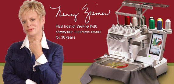 Nancy Zieman, PBS host of Sewing with Nancy and business owner.