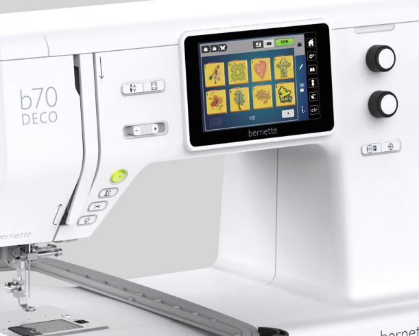 Easy and quick navigation with touchscreen and multi-function knobs