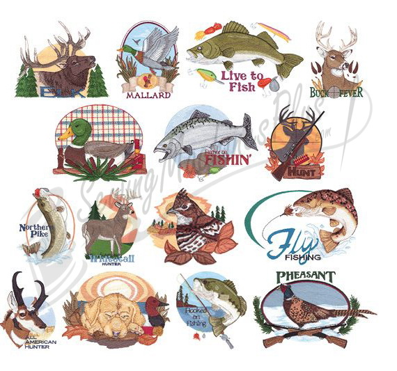 Fishing Embroidery Designs