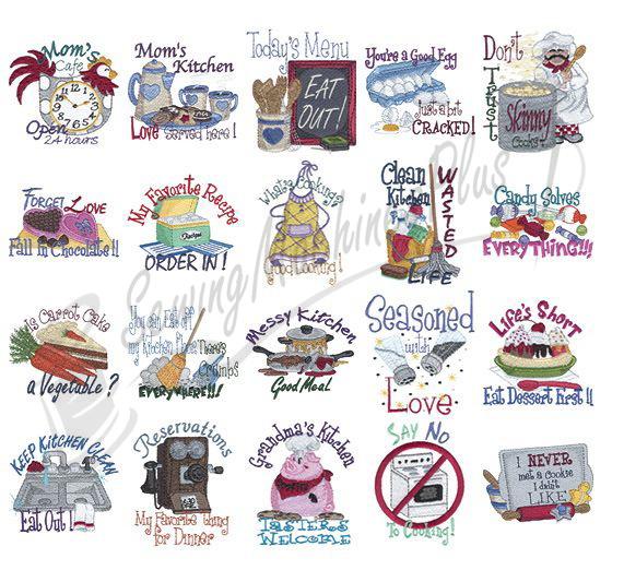 Nice Dakota Collectibles Kitchen Talk Embroidery Designs   970253 Part 12
