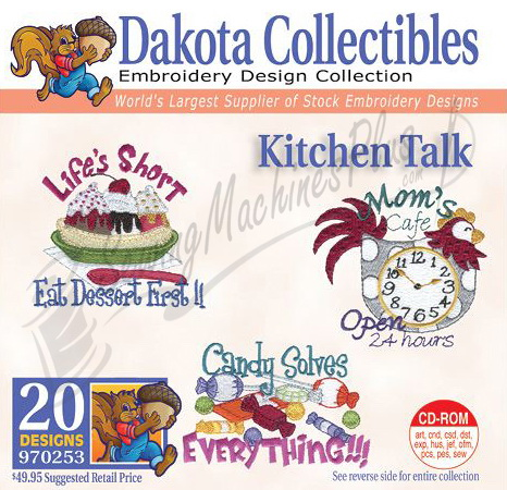 Dakota Collectibles Kitchen Talk Embroidery Designs 970253 Ebay