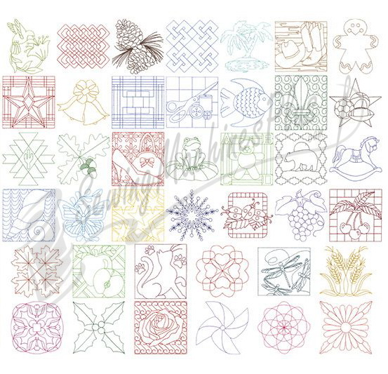 Quilting Patterns Stitching : Dakota Collectibles Quilt Stitching #24 Embroidery Designs 970316 eBay