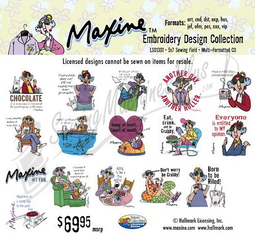 Dakota Collectibles Maxine Embroidery Design Collection #1 LS01301