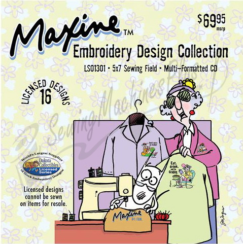 Dakota Collectibles Maxine Embroidery Design Collection 1 LS01301 ...