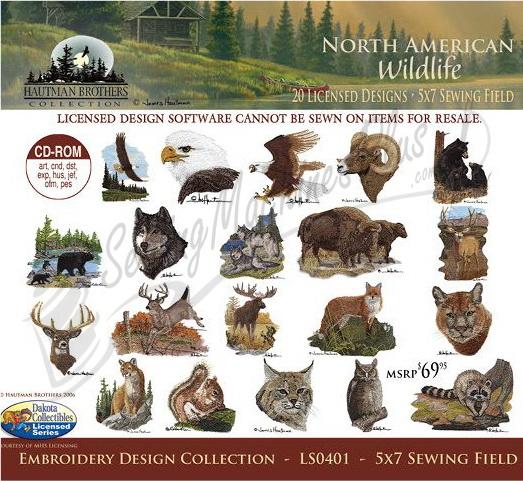 Free Wildlife Machine Embroidery Designs