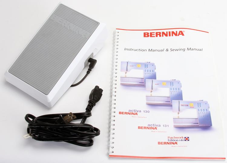 bernina activa 140 instruction manual