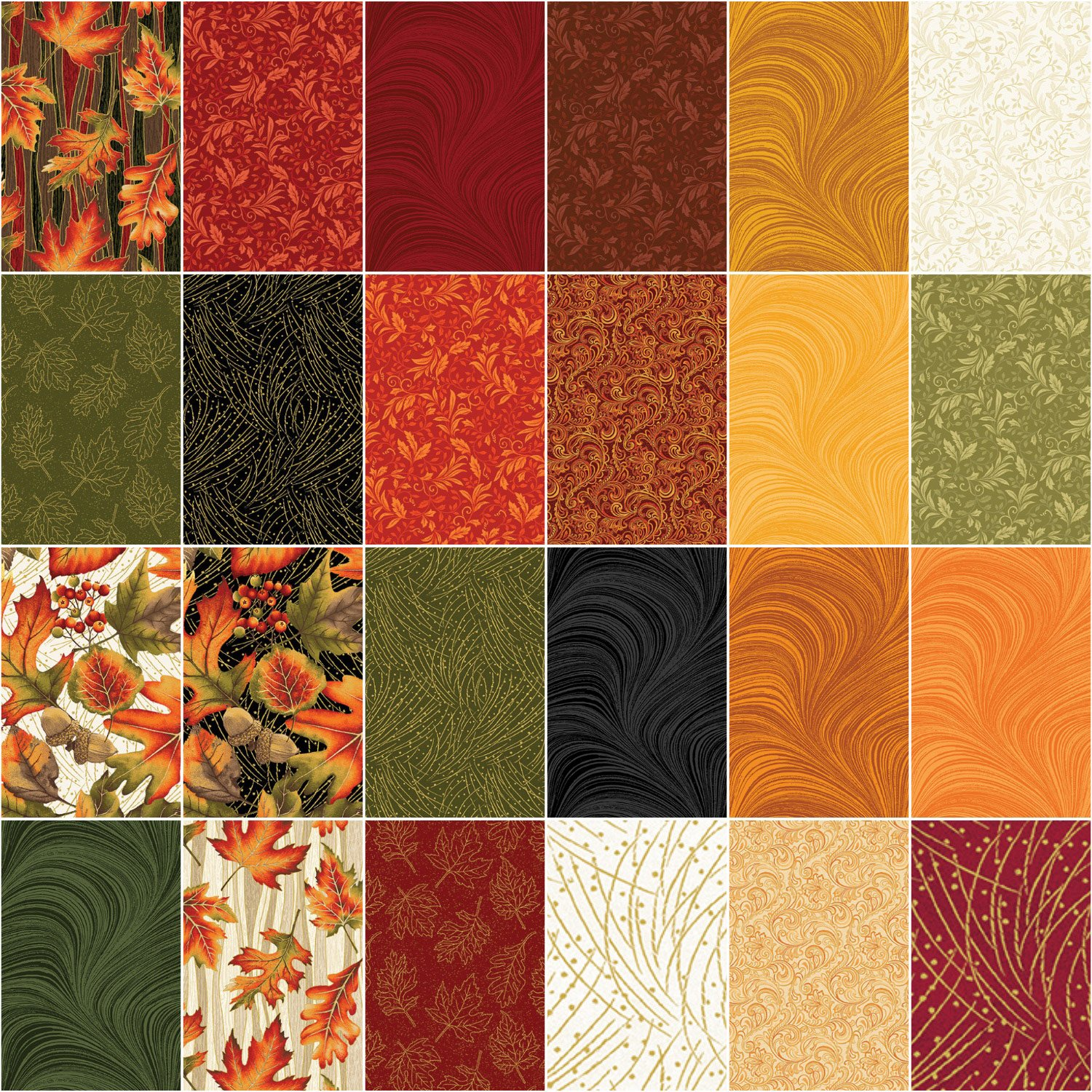 Jackie Robinson Wave Texture 5X5 Pack 42 5-inch Squares Charm Pack Benartex