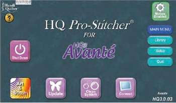 Pro Stitcher Main Screen.