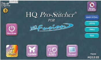 Pro Stitcher Welcome Screen.