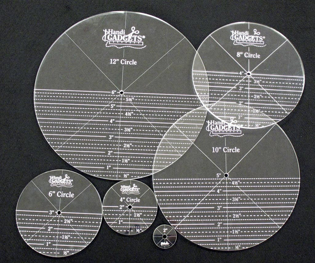 Handi Quilter Ruler Set Full Circles Templates