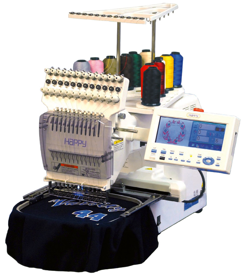 Happy 12 Needle Professional Embroidery Machine Voyager 1201