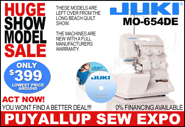 Juki Pearl Line MO 654DE 234 Thread Serger SHOW MODEL
