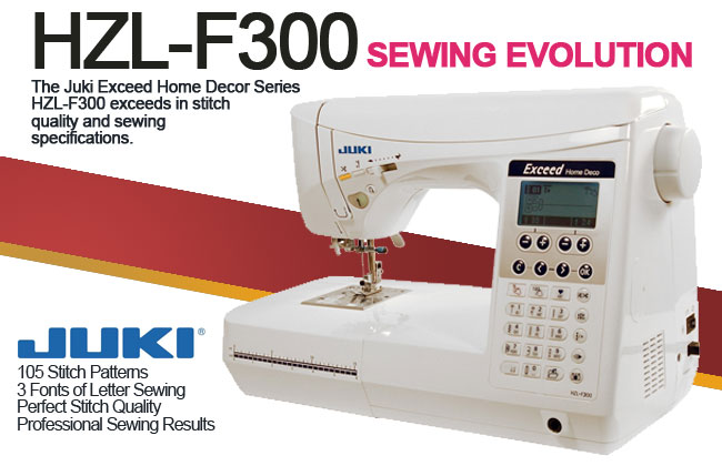 Juki Exceed HZL-F300 Sewing Machine