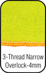 3 Thread Narrow Overlock Stitch.