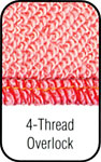 4 Thread Overlock Stitch.