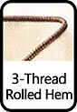 3-Thread Rolled Hem