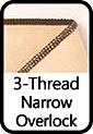 3-Thread Narrow Overlock